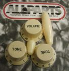 Knob Set for Fender Strat Cream PK-0178-028